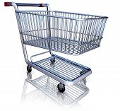 foto of caddy  - high resolution 3D rendering of a shopping caddy - JPG