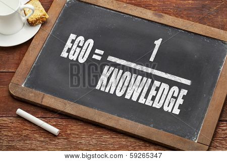 ego and knowledge concept illustration