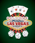 foto of roulette table  - vector french roulette wheel with Las Vegas sign - JPG