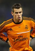 BARCELONA - JAN, 12: Gareth Bale of Real Madrid during the Spanish League match between Espanyol and