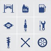 picture of chassis  - car service icons - JPG