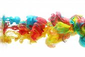 foto of pigments  - Colorful ink in water abstract - JPG