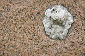 pic of interlocking  - abstract stone detail of two interlocked granite stones - JPG