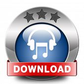 download music icon to play track and to listen live stream or for download song