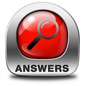 search answers indicating way to solve problems answer button answer icon search answer and discover
