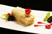 pic of tort  - Napoleon puff tort with fresh  fruits - JPG