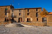Villafranca del cid houses in Castellon Maestrazgo at Valencian community Spain
