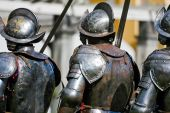picture of guardsmen  - Three royal guardsmen in heavy armour - JPG