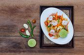 stock photo of thai food  - green papaya salad thai food Thai cuisine  - JPG
