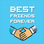 foto of  friends forever  - business partner or friend handshake and text Best Friends Forever - JPG