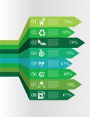 foto of sustainable development  - vector illustration of Modern spiral graphics options with icons concerning to ecology - JPG