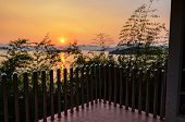 picture of chan  - High angle view beautiful lake at sunset from resort in Kaeng Kra Chan National Park Phetchaburi Province Thailand