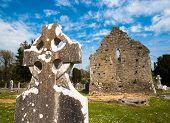 picture of graveyard  - grounds of Celtic graveyard ruins in Adare - JPG
