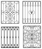 image of wrought iron  - Wrought iron modules - JPG