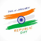 pic of ashok  - happy india republic day greeting design vector - JPG