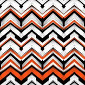 picture of bohemian  - Multicolor hand drawn pattern with brushed zigzag lines - JPG