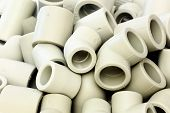 picture of thermoplastics  - A lot of combined fittings for plastic pipes - JPG