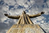 picture of jesus  - Expiatory Church Of The Sacred Heart Of Jesus On Summit Of Mount Tibidabo In Barcelona - JPG