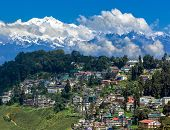 stock photo of darjeeling  - Panoramic view of mount Kanchengjunga - JPG
