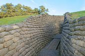 pic of battlefield  - The trenches on battlefield of Vimy ridge France - JPG