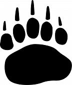 foto of panda bear  - Vector illustration of the paw of a bear - JPG