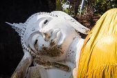 image of gautama buddha  - Reclining Buddha in Ayutthaya historical park Thailand - JPG