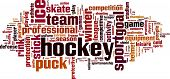 pic of hockey arena  - Hockey word cloud concept isolated on white - JPG