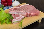 pic of t-bone steak  - Raw t - JPG