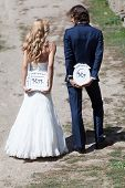 pic of married  - Married couple with funny cartons with  - JPG