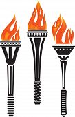 foto of torches  - Set of three torches - JPG