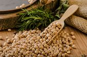 picture of legume  - Raw and healthy chickpeas Simple but delicious legume used in Middle Eastern cuisine - JPG