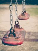 pic of playground  - Empty outdoor kid playground equipment at public playground - JPG