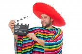 picture of clapper board  - Funny mexican with clapper - JPG