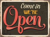 picture of 50s 60s  - Retro metal sign  - JPG