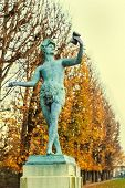 stock photo of garden sculpture  - Sculpture at the Luxembourg Garden - JPG