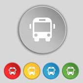 stock photo of bus driver  - Bus icon sign - JPG