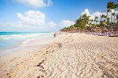 foto of atlantic ocean  - Empty sandy beach landscape - JPG