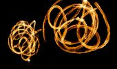 picture of fire  - Fire Show Flaming Trails - JPG