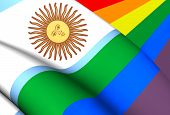 picture of gay flag  - Argentina Gay 3D Flag - JPG