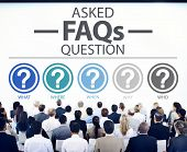 picture of faq  - Frequently Asked Questions FAQ Problems Concept - JPG