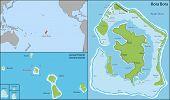 stock photo of french polynesia  - Bora Bora is an island in the Leeward group of the Society Islands of French Polynesia - JPG