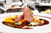 foto of duck  - Roasted duck fillet with carrot - JPG