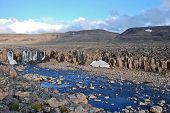 stock photo of taimyr  - Photo waterfall on the Putorana plateau - JPG