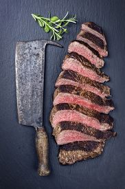 foto of wagyu  - grilled steak - JPG