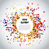Постер, плакат: Rainbow Circle Pattern Background