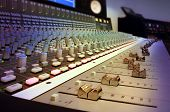 stock photo of recording studio  - a modern recording studio mixing console 