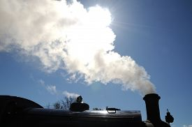 foto of western saddle  - Hunslett Saddle Tank Loco steam train bellowing out steam Brownhills West Railway Station Chasewater West Midlands England UK Western Europe - JPG