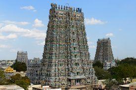 stock photo of meenakshi  - Meenakshi Sundareswarar Temple in Madurai - JPG