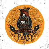 Постер, плакат: Halloween Party Poster With An Old Owl