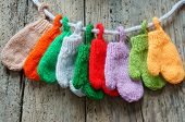 Постер, плакат: Christmas Ornament Colorful Mitten Xmas Glove